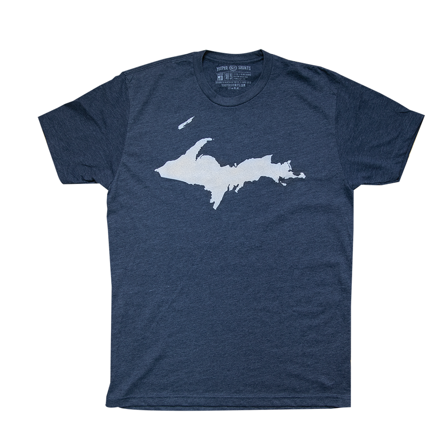 """U.P. Silhouette (Islands)"" Midnight Navy T-Shirt"