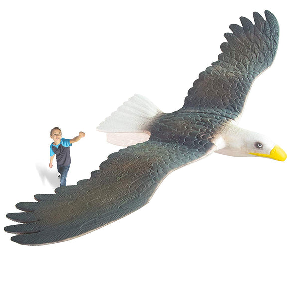 "GeoGlide Freedom EAGLE Realistic Soaring Bird Glider with 33"" Wingspan"
