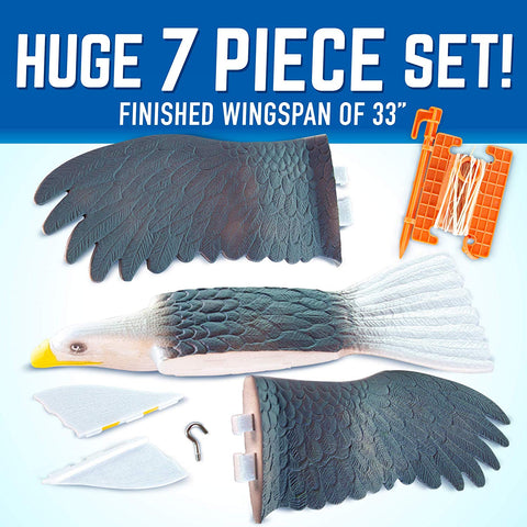 "GeoGlide Giant Freedom EAGLE Realistic Soaring Bird Glider with 33"" Wingspan"