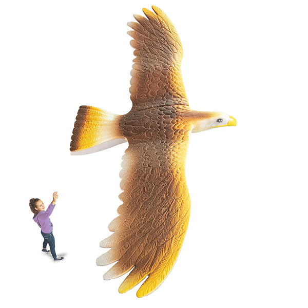 "GeoGlide Giant Freedom HAWK Realistic Soaring Bird Glider with 33"" Wingspan"