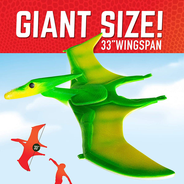 "GeoGlide Giant Freedom PTERODACTYL Realistic Soaring Bird Glider with 33"" Wingspan"