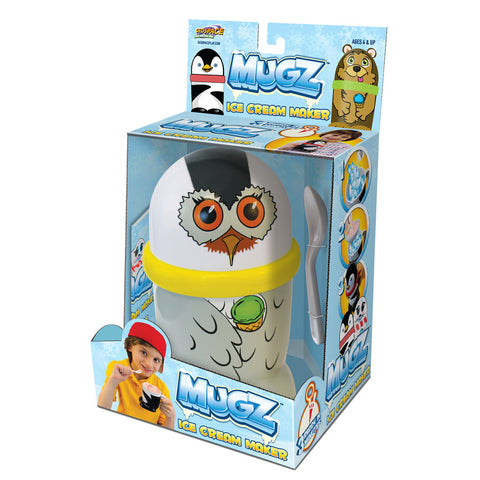 MUGZ Mini Ice Cream & Slushy Maker, Snowy Owl
