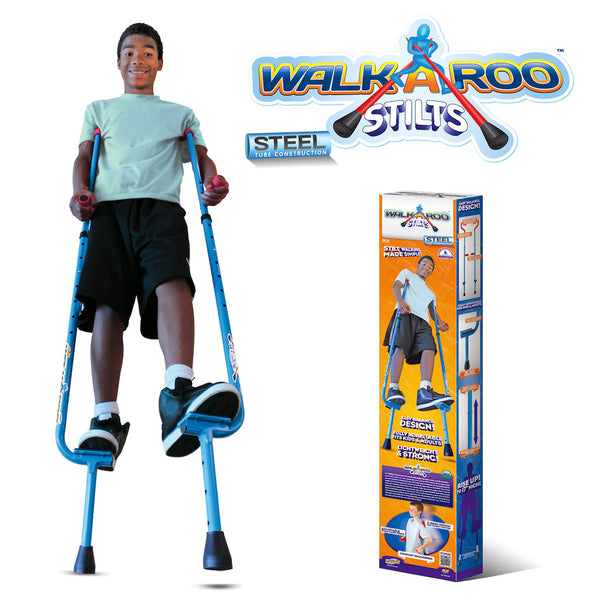 Walkaroo Original Balance Stilts with Ergonomic Design by Air Kicks (Steel)