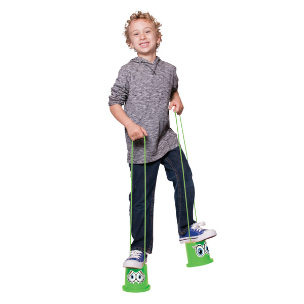 Walkaroo I-CAN Stilts EZ Beginner Active Play Kids Stilts with Sticker Set