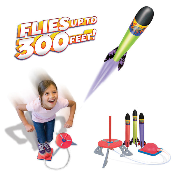 Jump Rocket Set (Original) with 3 Rockets