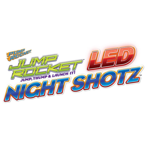 Jump Rocket LED Night Shotz Set with 3 LED Rockets & Jump Launcher