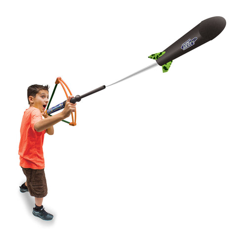 Air Archer Air Powered Bow with Safe Foam Rocket, Single (Assorted Colors)