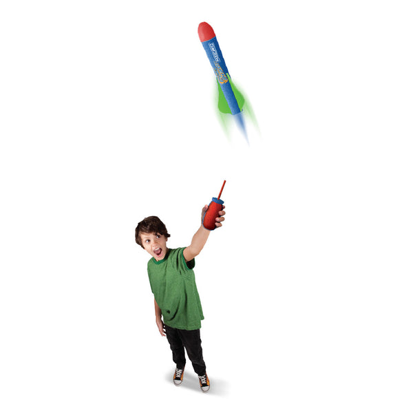 Pump Rocket Micro Shotz Air Powered Launcher with 3 Rockets
