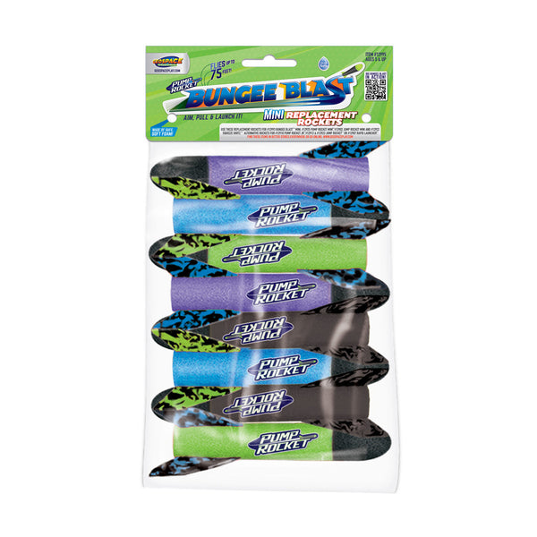 Bungee Blast MINI Replacement Rockets 8-Pack
