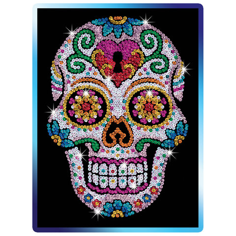 Sequin Art® Craft Teen, Sugar Skull, Sparkling Arts and Crafts Picture Kit