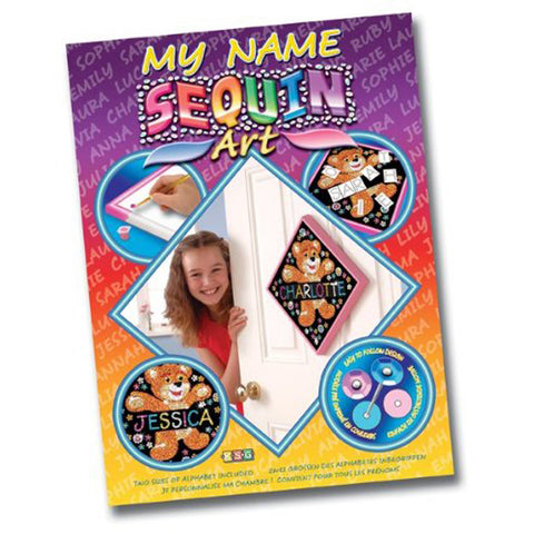 Sequin Art® My Name, Teddy, Sparkling Arts and Crafts Picture Kit