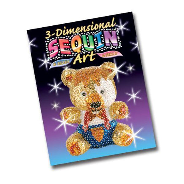 Sequin Art® 3D, Teddy, Sparkling Arts and Crafts Picture Kit