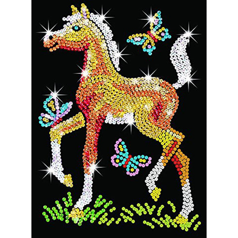 Sequin Art® Red, Foal, Sparkling Arts and Crafts Picture Kit