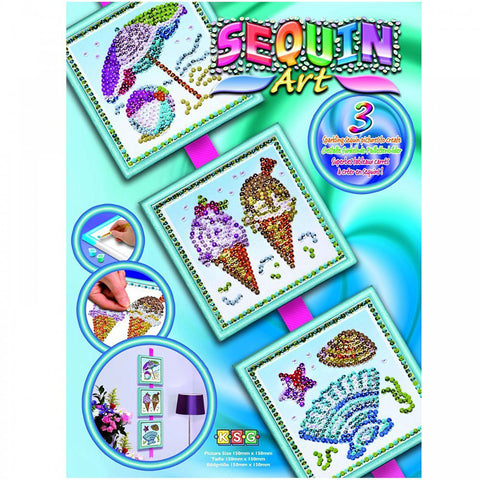 Sequin Art® Seasons, Summer, Sparkling Arts and Crafts Picture Kit