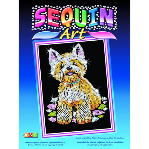 Sequin Art® Blue, Westie, Sparkling Arts and Crafts Picture Kit