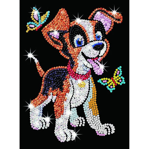 Sequin Art® Red, Puppy, Sparkling Arts and Crafts Picture Kit