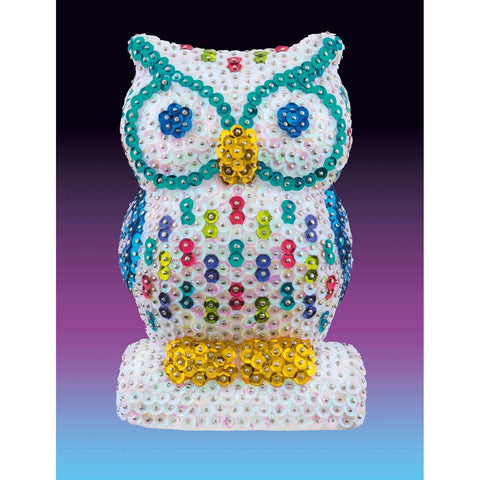 Sequin Art® 3D, Owl, Sparkling Arts and Crafts Picture Kit