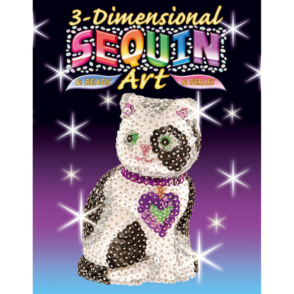 Sequin Art® 3D, Cat, Sparkling Arts and Crafts Picture Kit