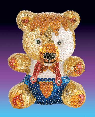TEDDY 3D Sequin Art® Sculpture - Sparkling DIY Craft Kit