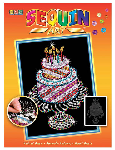 Sequin Art® Orange, Birthday Cake, Sparkling Arts and Crafts Picture Kit