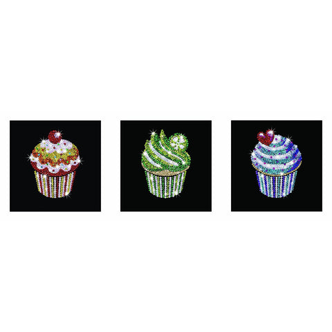 Sequin Art® Style, Cupcakes, Sparkling Arts and Crafts Picture Kit