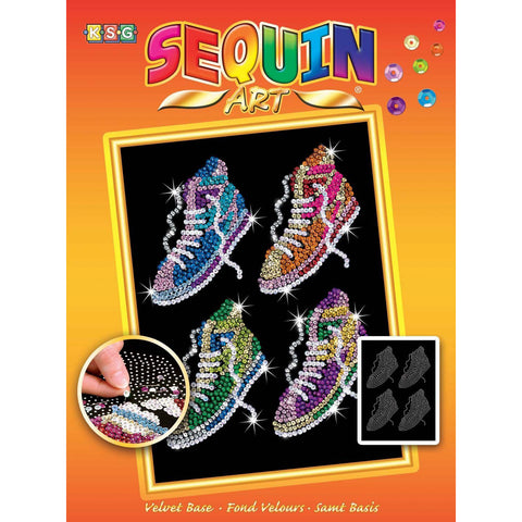 Sequin Art® Orange, Street Feet, Sparkling Arts and Crafts Picture Kit