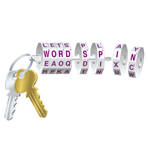 Mini WORD SPIN on a Keychain