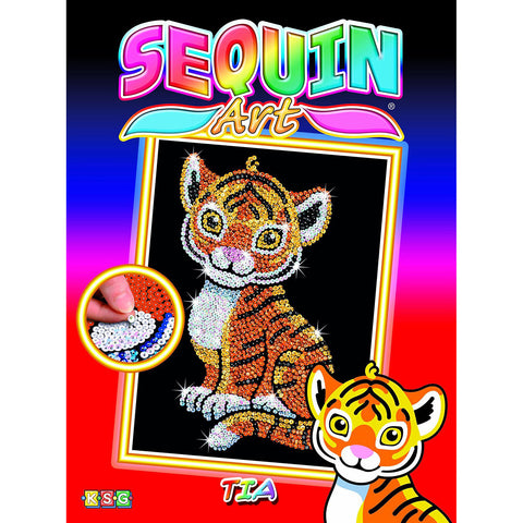 Sequin Art® Red, Tiger, Sparkling Arts and Crafts Picture Kit
