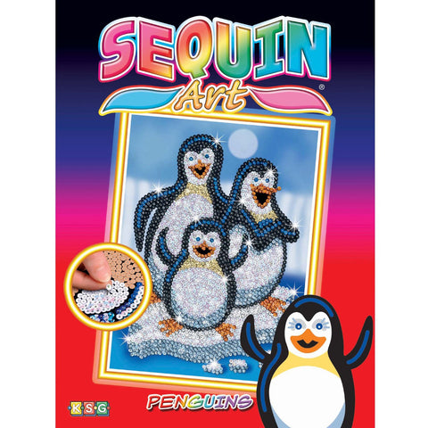 Sequin Art® Red, Penguins, Sparkling Arts and Crafts Picture Kit