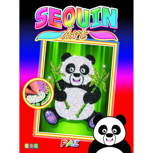Sequin Art® Red, Panda, Sparkling Arts and Crafts Picture Kit
