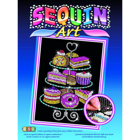 Sequin Art® Blue, Cakestand and Cakes, Sparkling Arts and Crafts Picture Kit