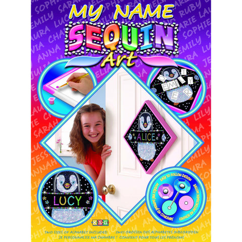 Sequin Art® My Name, Penguin, Sparkling Arts and Crafts Picture Kit