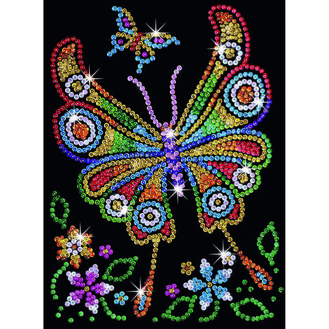 Sequin Art® Red, Butterfly, Sparkling Arts and Crafts Picture Kit