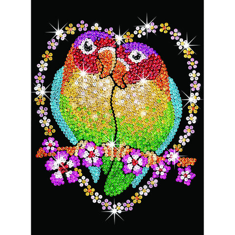 Sequin Art® Blue, Love Birds, Sparkling Arts and Crafts Picture Kit