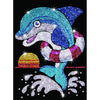 Sequin Art® Red, Dolphin, Sparkling Arts and Crafts Picture Kit