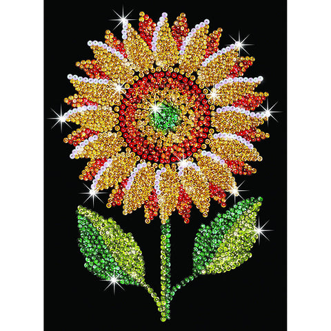 Sequin Art® Blue, Sunflower, Sparkling Arts and Crafts Picture Kit