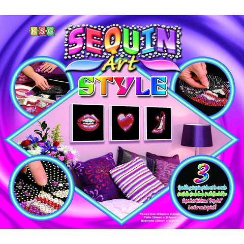 Sequin Art® Style, Pop Art, Sparkling Arts and Crafts Picture Kit