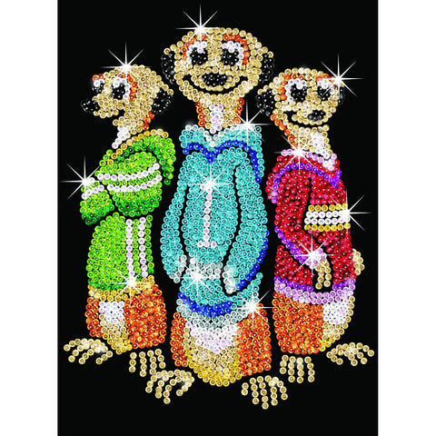 Sequin Art® Red, Meerkats, Sparkling Arts and Crafts Picture Kit