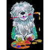 Sequin Art® Red, Sheepdog, Sparkling Arts and Crafts Picture Kit