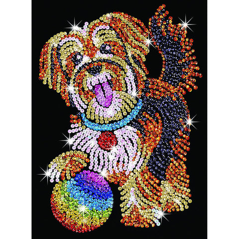 Sequin Art® Blue, Puppy, Sparkling Arts and Crafts Picture Kit