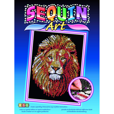 Sequin Art® Blue, Golden Lion, Sparkling Arts and Crafts Picture Kit