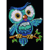 Sequin Art® Red, Owl, Sparkling Arts and Crafts Picture Kit