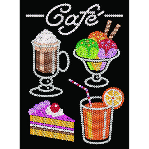 Sequin Art® Blue, Café, Sparkling Arts and Crafts Picture Kit