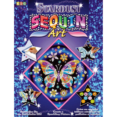 Sequin Art® Stardust, Butterfly, Sparkling Arts and Crafts Picture Kit