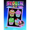 Sequin Art® Blue, Four Cupcakes, Sparkling Arts and Crafts Picture Kit
