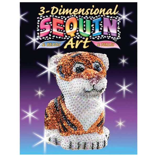 Sequin Art® 3D, Tiger, Sparkling Arts and Crafts Picture Kit