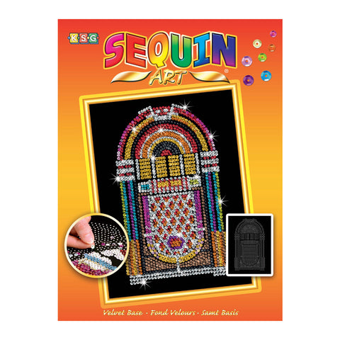 Sequin Art® Orange, Jukebox, Sparkling Arts and Crafts Picture Kit