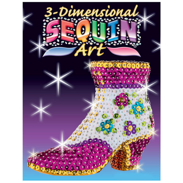Sequin Art® 3D, Shoe, Sparkling Arts and Crafts Picture Kit