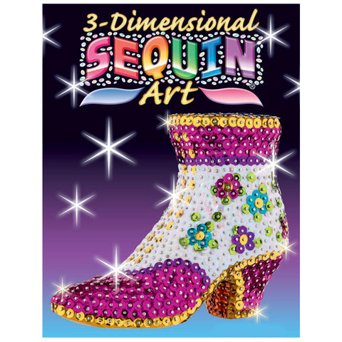 3D Sequin Art® SHOE - Sparkling DIY Craft Kit
