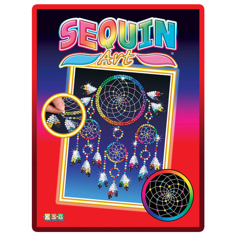 Sequin Art® Red, Dreamcatcher, Sparkling Arts and Crafts Picture Kit